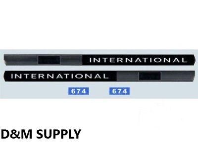 Ih Case International Tractor 674 Decal Set 308h