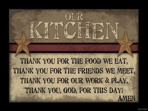 Country Kitchen Signs Ebay