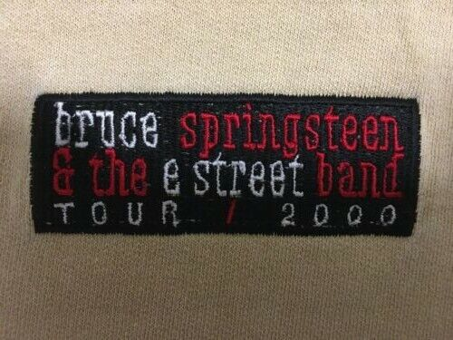 Vintage Bruce Springsteen Tour 2000 Raglan Zippered Sweatshirt XL Excellent Cond