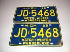 Old Michigan License Plates