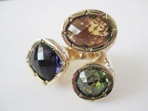 Semi precious stone rings ebay for Precious stone wedding rings