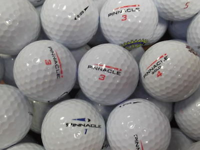 "50 PINNACLE GOLF BALLS "" PEARL / GRADE A "" LAKE BALLS FREE DELIVERY"