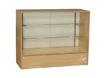 48 Maple Full Vision Showcase Display Store Fixture Knocked Down Sc4m