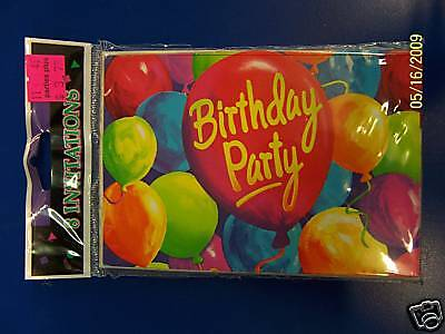 Paint Party Invitations (Painted Balloons Birthday Party Invitations)