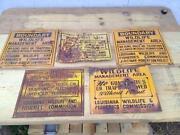 Vintage Hunting Sign
