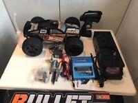 hpi nitro 3.0 bullet stadium truck + extras, bargain