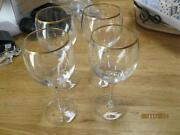 Gold Trim Wine Glasses