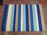 CHEZ-TOI NEW STRIPES RUG - BLUE - 160 x 230 - 100% WOOL - £30