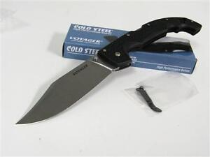 COLD STEEL VOYAGER XL X-Large Clip Point Knife! 29TXC