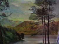 LANDSCAPE OIL PAINTNG OF DERWENT WATER