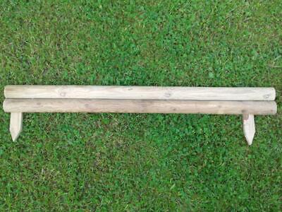 Pack Of 10 New Horizontal Garden Lawn Log Panel Edging 1M X 4 Inch