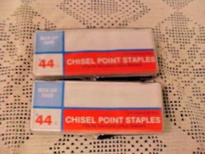 Staples 2 Boxes Chisel Point Staples Fits All Standard Staplers 210 A Strip New