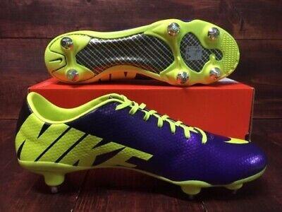 fc53e056d937 Rare Nike Mercurial Vapor IX SG Purple Volt 614336-571 Soccer Cleats Mens 10