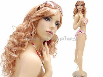 Sexy Big Bust Female Fiberglass Mannequin Fleshtone Dress Form Display Md-ack2x