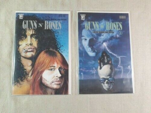 Celebrity Comics Guns-n-Roses Limited Trading Card Edition #1-2 (NM)