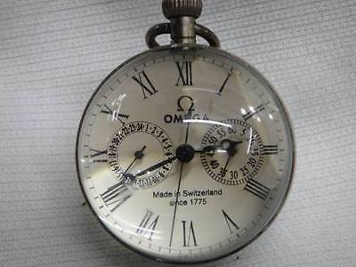 Rare Works CHINESE vintage BRASS GLASS pocket watch BALL clock