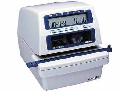 Amano Ns-5100 Time Clock Stamp W Key