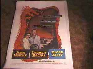BLOOD-ALLEY-1955-MOVIE-POSTER-JOHN-WAYNE-LINEN