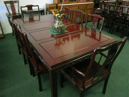 Chinese dining table ebay for Oriental dining table