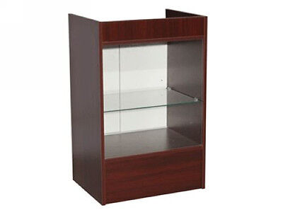 Cherry Register Stand Top Shelf Display Store Fixture Knocked Down Scr-glc
