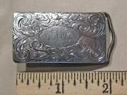 Sterling Silver Western Belt Buckle