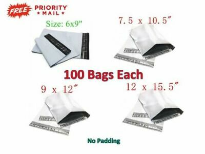 400 Combo Poly Mailers Bags Each 100 - 6x9 7.5x10.5 9x12 12x15.5 - Fast Ship