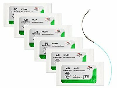 Sterile Sutures Thread With Needle For Medical Surgical Practice Kit Set 6 Pack