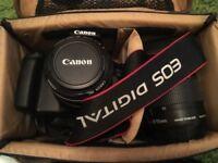 Canon EOS 1100D Digital SLR Camera .2 lenses inc.EXCELLENT CONDITIONE