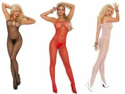 Queen-size Bodystockings (New Seamless Fishnet Open Crotch Bodystocking 18 - 26 Plus Queen Size 1X - 3X)