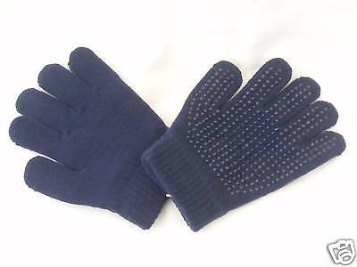 Horse Riding Gloves Unisex Elico Expander Gloves Navy Blue - One Size