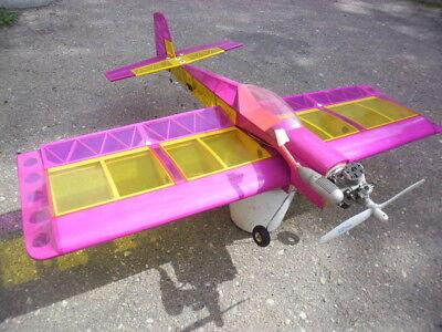 Modell Flugzeug 3D RC super Zustand mit Motor Holz Rippen Folie 160 x 160 leicht (3d Flugzeug)