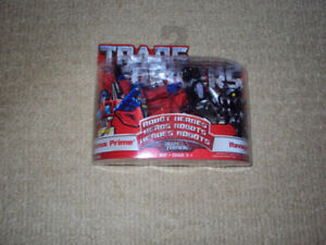 TRANSFORMERS ROBOT HEROES, OPTIMUS PRIME AND RAVAGE, HASBRO