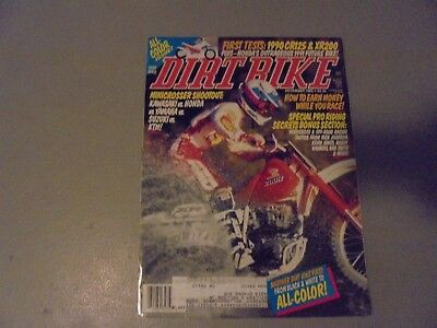 DECEMBER 1989 DIRT BIKE MAGAZINE,HONDA CR125R,80CC SHOOTOUT,HONDA XR200,DES (Used Honda 80cc Dirt Bike For Sale)