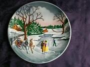Winter Scene Plate