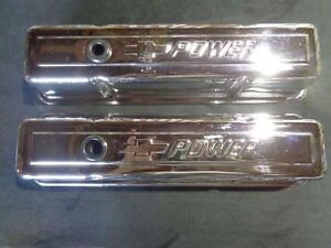 SBC V/8 Chevy Power Chromed Valve Covers.