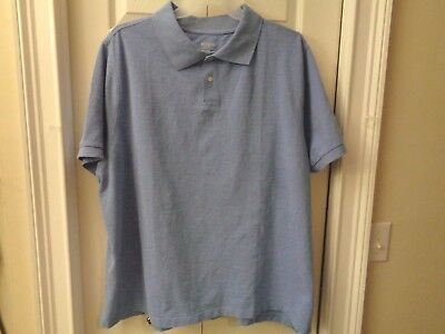 NWT Men's Merona Big and Tall Cotton Polo Shirt Blue Purple    3X   4X  (Big And Tall Cotton Polo Shirt)
