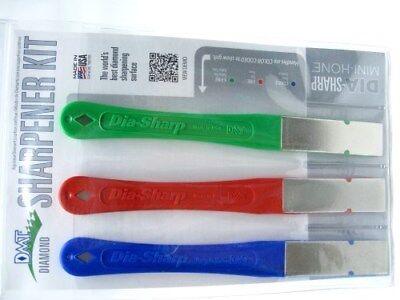 DMT D2K Dia-Sharp Coarse Fine Extra Fine Knife Tool Sharpener Diamond Stone Kit Dmt Dia Sharp Diamond