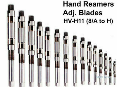 Adjustable Hand Reamer 15 Pcs Set H-v To H-11 Sizes 14 To 1.116 - New
