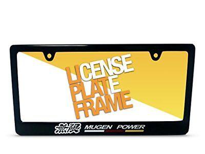 Plastic Color License Plate - MUGEN RACING BLACK COLOR PLASTIC LICENSE PLATE FRAME MUGEN HONDA STYLE