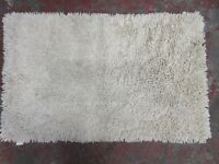 CHEZ-TOI BRISBANE CHENILLE RUG - CREAM - 60 x 100 cm £10