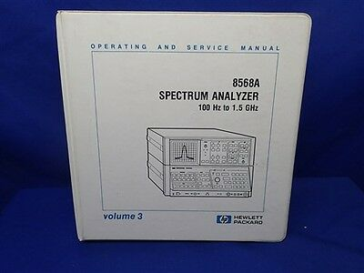 Hp 8568a Spectrum Analyzer Operating And Service Manual Volume 3