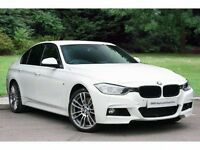 car hire/ chauffeur service in a prestige white bmw 335d