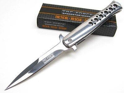 TAC-FORCE Stainless Steel STILETTO Assisted Folding POCKET Knife New! TF-884CH