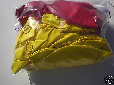 """+SALE FREE SHIPPING CAR DEALER 72 count 17-20"""" HELIUM or AIR BALLOONS Red/Yello"""