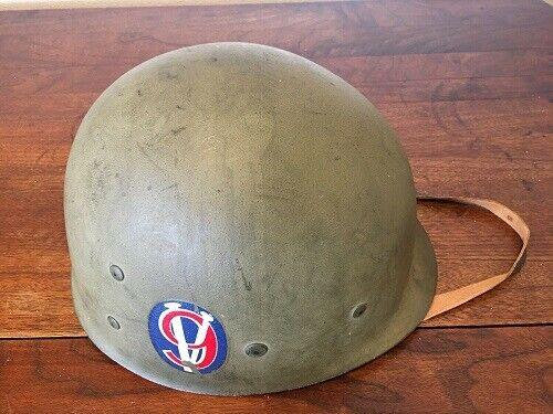 Original Rare WWII U.S 95th Infantry Division V9 With Helmet Liner