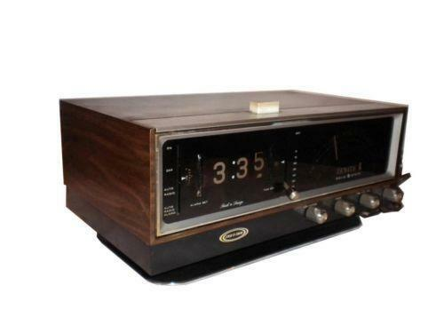 1958 Zenith long distance clock radio model N728 am fm |Zenith Clock Radio