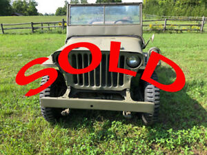 SOLD WILLYS JEEP GPW FORD 1942 SOLD