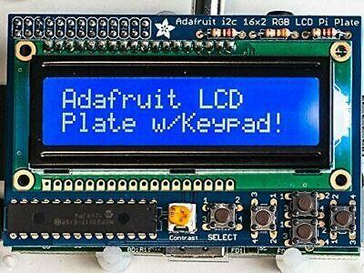 3dmakerworld Adafruit Blue White 16x2 Lcdkeypad Kit For Raspberry Pi