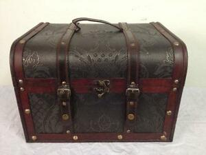 wooden trunk ebay
