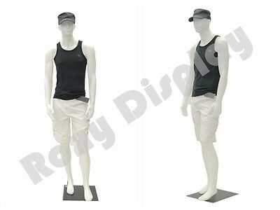 Male Plastic Unbreakable Mannequin Display Dress Form Display 959w-ps